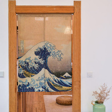 Customized curtain Chinese Japanese style curtain restaurant kitchen partition curtain semi curtain handmade cloth door flag