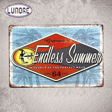 Endless Summer Vintage Metal Tin Sign Hanging Painting Pub Hotel Poster Party Wall Stickers Decor