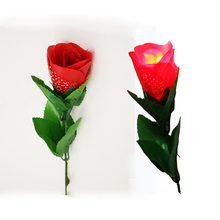 3pcs/lot Flash Light up rose include finger Light silk flowers magic trick illusion  Valentine's Day gift prop magia kids Toys