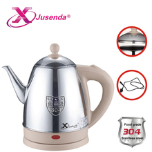 Fashion jusenda electric pot Fast heating and Anti-dry water boiler 1.2L 220v 1350w mini kettles Small kitchen appliance EU plug