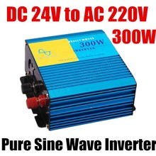 new arrival high quality pure sine wave power inverter 300W inverter DC 24V to AC 220V 300 Watt  50HZ