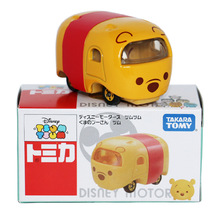 Disney Toys Cute Mini Tomica Tomy Tsum Kawaii Cartoon movies Winnie 1:64 Diecast Metal Cars For Children Christmas Gift(China)