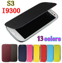 Flip Leather Back Cover Original Battery Housing Case Protector Holster Shell For Samsung Galaxy S3 I9300 S3 Neo I9300i S3 Duos(China)