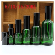 Green Glass Packaging Bottles, Used in Emulsion/oil Container,Empty Essential oil Bottle,Special Personal Care,Beauty &Skin Care