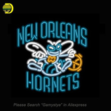 ashion Neon Sign NBA New Orleans Hornets Handcrafted Real Glass Lamp Neon Light Neon Sign Beer bar Sign Neon Beer Sign 24x20""