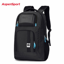 AspenSport Waterproof Laptop Backpack Multifunction Men Women Computer Notebook Bag 16'' Unique High Quality Business Laptop Bag(China)