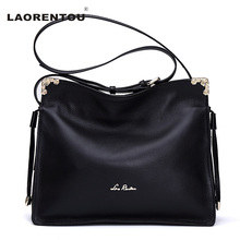 Laorentou Genuine Cow Leather Luxury Women Bags Designer Soft Real Leather Shoulder Bag For Women Messenger Bag(China)