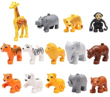 Lepin Duplo mini figures Original Classic Animal Zoo/farm Big Building Block Educational Child Baby Toys DIY Set Gift Brinquedos