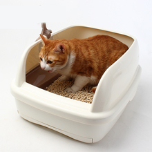 Semi Closed Bedpan Pet Cats Litter Box Small Corner Toilet Cat Toilet Bag Kit Pet Litter Training Arena Gato Pet Product 70Z2103