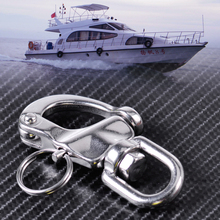 CITALL New Stainless Steel Heavy Duty Snap Shackle D Ring Swivel Bail Marine Boat Yacht Sailing Hardware(China)