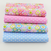 Booksew Cotton Fabric 4PCS/lot 40cmx50cm floral dots patterns bundle quilting patchwork sewing clothes bedding tissus tilda(China)