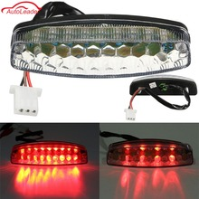 Red LED Motorcycle ATV Rear Tail Brake Light For 50 70 110 125cc ATV Quad Kart TaoTao Sunl Chinese Motorcycle Light(China)