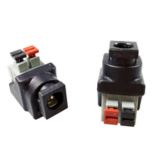 50pcs DC5521 AV Cable Balun Connector CCTV Power Adapter Male Plug Couple Terminals Black&Red AV Cable Terminals(China)
