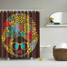 custom fabric shower curtain cortina de banheiro 3D honey glasses cortina banheiro bathroom curtain