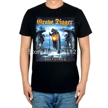 Free shipping Grave Digger The Last Supper heavy metal power metal new black t-shirt TEE(China)
