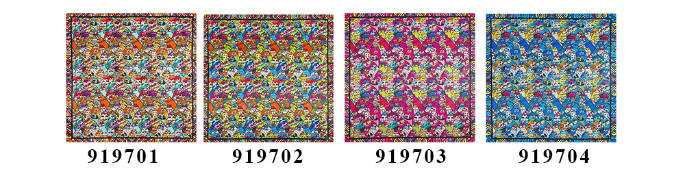 Square print scarf (5)