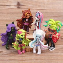 High School Toy 10cm 6pcs/set Monsters High School Doll PVC Toy Figure Toy