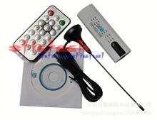 by dhl or ems 10 sets New USB 2.0 DVB-T Digital TV Receiver HDTV Tuner Dongle Stick Antenna Remote Wholesale
