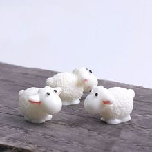 5PCS Mini Sheep Micro House Fairy Garden Garden Figurine Miniature Doll Toys Garden Sweet Home Decoration Accessories