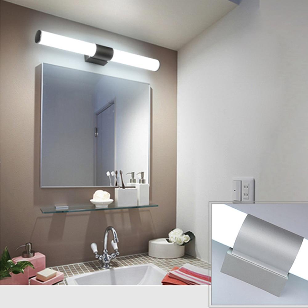 LED mirror light Stainless Steel+Aluminum+Acrylic led vanity washroom wall lamp