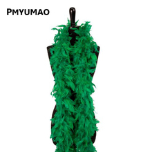 1 PCS Christmas Decorative Green Color Marabou Feather boa Plume Scarf Halloween clothes/Lady Wedding DIY accessories