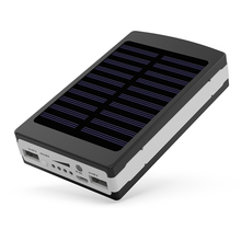 YFW Solar Power Bank 18650 Poverbank External Battery 12000mAh Charger with 20 Pieces LED Lamps for Smart Mobile Phones(China)