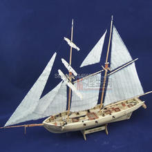 assembly model kits classical wooden sailing boat model Halcon1840 scale wooden assembly ship model building kits