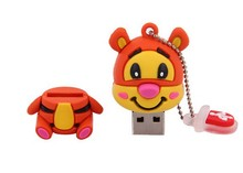 new fashion 4-32GB cartoon Lovely  tiger shape usb 2.0 memory stick pen thumb drive