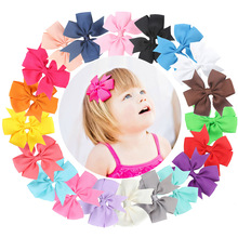 20Pcs Bowknot Hair Clip For Kids Toddlers Infants Sold Color Bow Hair Clip Sweet Lovely Cute Hair Accessories