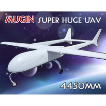 Super Huge MUGIN 4450mm UAV (H)T-tail Plane Platform Aircraft FPV Radio Remote Control H T Tail RC Model Airplane DIY Toys Drone(China)