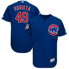 MLB Men's Chicago Cubs Jake Arrieta Royal Alternate Authentic Collection Flex Base Player Jersey(China)