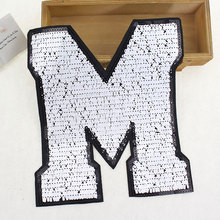BT167 5Pcs/Lot New Arrival Paris New York Hot Selling Fashion Big M Patch Sew or iron on Cloth Free Shipping & Factory Price(China)