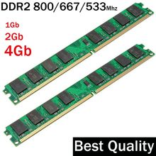 4гб RAM DDR2 2гб 800 / 800Mhz 2 гб ddr2 ram memoria / Suit for all Intel and AMD motherboard / 4 гб ddr2 memory PC2-6400(Китай)