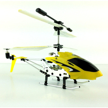 Mini Alloy RC Helicopter S107G Drones with LED Light 3.5 CH 6 Axis Gyro RC Copter Flying Toy Remote Control Fuselage Copter Toys(China)