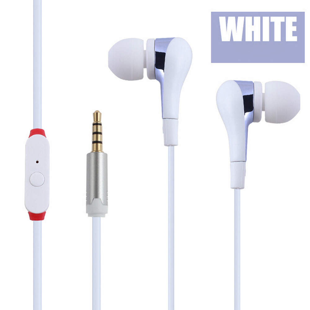 CARPRIE Earphones For Phones Universal 3.5mm In-Ear Stereo Earbuds Earphone With Mic For Cell Phone 2018 NEW Dropshipping