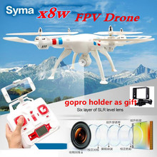 2017New Quadcopter Syma X8W RC Drone with Camera 2.0mp hd wifi fpv applicable 50cm Big Quadcopter Helicopter vs x101 x8c x8g(China)