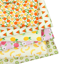 TIANXINYUE brand Fabric 6 pcs 40*50cm fruit Cotton Fabric DIY Patchwork Sewing Bedding baby pillow Cloth Fabric(China)