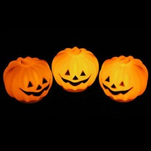 2017 New 3pcs Carnival Halloween Party Decoration Props Lantern LED Pumpkin Night Light