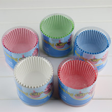 New 100pcs/lot PVC box packing 11cm Solid Color Birthday Party cupcake case muffin liner packaging wrappers paper cup P273