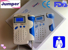 Backlight LCD 2.5 MHz Fetal Doppler Fetal Heart Monitor Rechargeable Batteries Gel CE FDA baby monitor with Built-in loudspeaker(China)