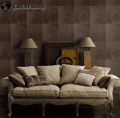 Great wall High-end European luxury lattice 3d stereoscopic striae wallpaper roll for living room,pvc vintage wall paper<br><br>Aliexpress