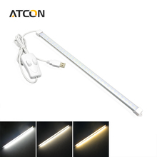 1Pcs Portable USB LED Bar lights Rigid Strip Night light DC5V 60LEDs 10W Desk lamp with Switch ON/OFF For Reading & Camping bulb