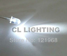 High bright Round 5mm white led 1.5Hz Auto-flashing 6000-7000K single blinking dip led(China)