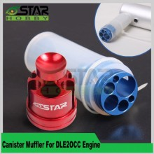6 Star Hobby Brand Canister Muffler For DLE20 CC Gas Engine Free Shipping(China)