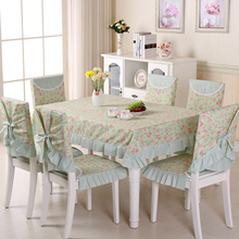 New 13 pcs/set Polyester Lace Tablecloths Chair Cover Dinner Sets,Wedding Decoration Table,Toalha de Mesa,Pink White Table Cloth(China)