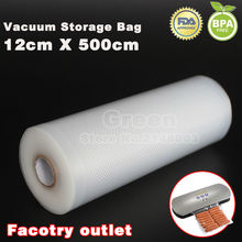 12 x 500cm 1 Roll KitchenBoss Fresh-keeping bag of vacuum sealer food storage bags packaging film keep fresh up to 6x longer(China)