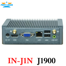 Celeron J1900 Mini PC Quad Core Fanless Mini PC with VGA HDMI RJ45 ethernet mini pc NUC nano support Window 10/Win 7/Linux