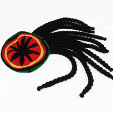 Forjia Novelty Striped red yellow black and green wave pattern Jamaica Handmade knitted cap Braid decoration Wrap hat Beanie(China)