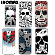 Jaomax Brand Head Skeleton Skull Case For Samsung Galaxy S3 S4 S5 S6 Edge S7 Edge S8 Plus Transparent Soft Silicone Phone Cover(China)
