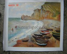 Boats on the Beach at Etretat High quality Claude Monet Canvas Art for sale Impressionist Painting Landscape painting decor